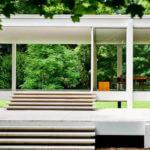 minimalismo stile di vita - casa di vetro di Mies Van Der Rohe